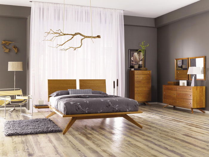 Copeland Astrid Bedroom Set in Natural Cherry