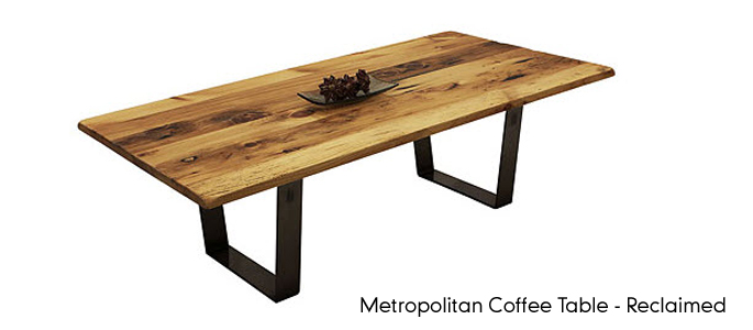 wood and metal tables