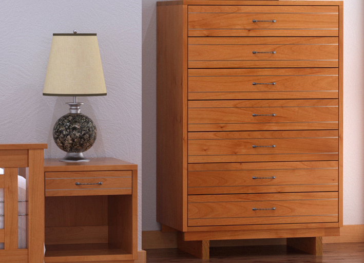 Metal and Wood Furniture   Modern Bedroom Set   American Made in Vermont