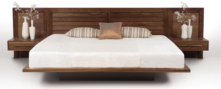 Custom Built In Beds with Integrated Nightstands