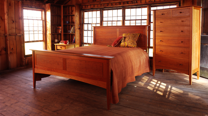 Shaker Style Furniture Vermont Made In Natural Cherry Wood