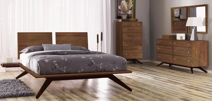 Astrid Bedroom Set | Solid Wood Furniture | Black Walnut | American Made in VT