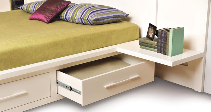 Bed with Storage - Moduluxe Collection
