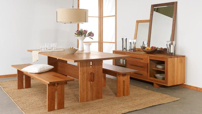 shaker style furniture. vermont style dining furniture modern contemporary all natural solid cherry wood shaker k