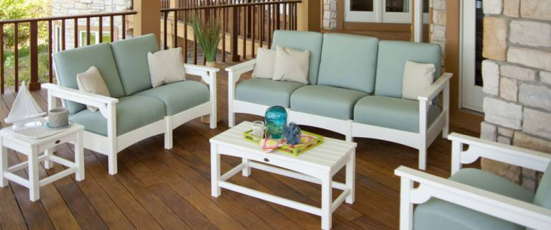 Recycled Plastic Outdoor Furniture for Patio  Porch and Pool Deck. High End Outdoor Furniture by Polywood   Recycled Plastic