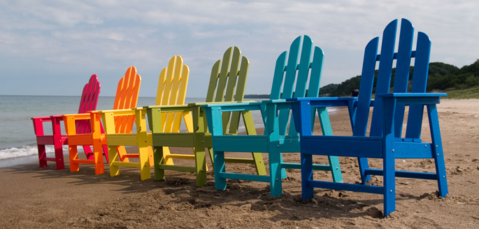 Long Island Adirondack Chairs | Made in America by Polywood | Recycled Plastic