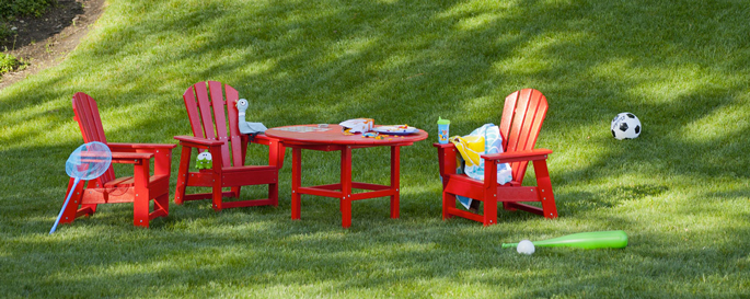 Kids Furniture | Outdoor Dining Furniture for Children | Polywood Adirondack Style