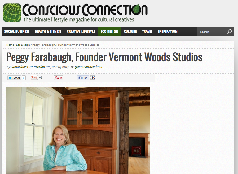 Eco Friendly Furniture Article by Anthony Chiaravallo of Conscious Connection