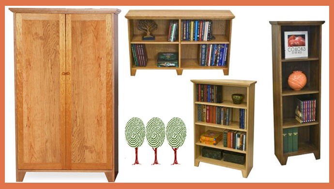 Solid Wood Bookcases | Custom Handcrafted in Vermont | American Made