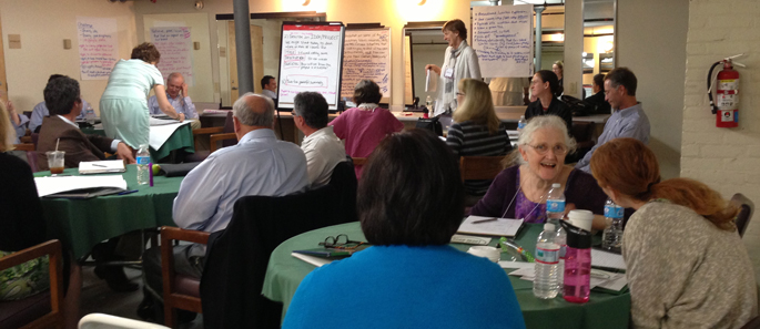Break Out Group Working on Defining Vermont's Brand