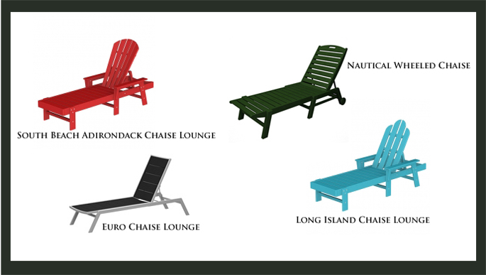 High End Chaise Lounges from Polywood | All Weather Outdoor Furniture