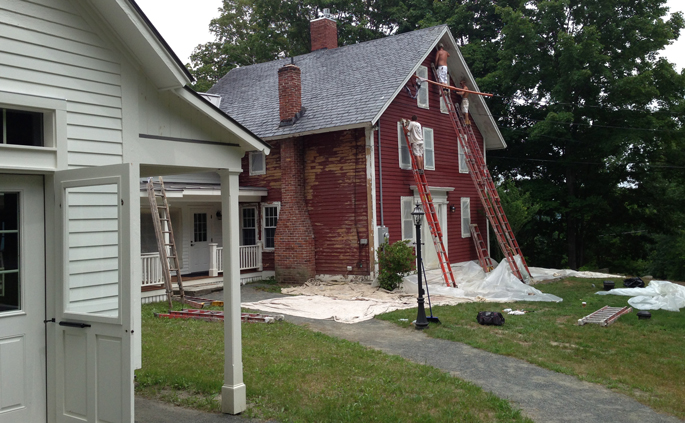 Moe Momaney, Painter | Brattleboro Vermont | Stonehurst Before and After