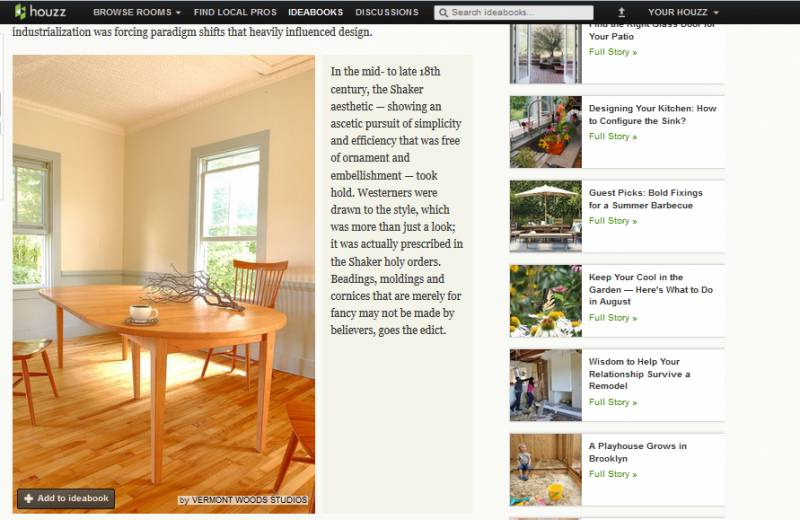 Vermont Woods Studios was Featured in Houzz