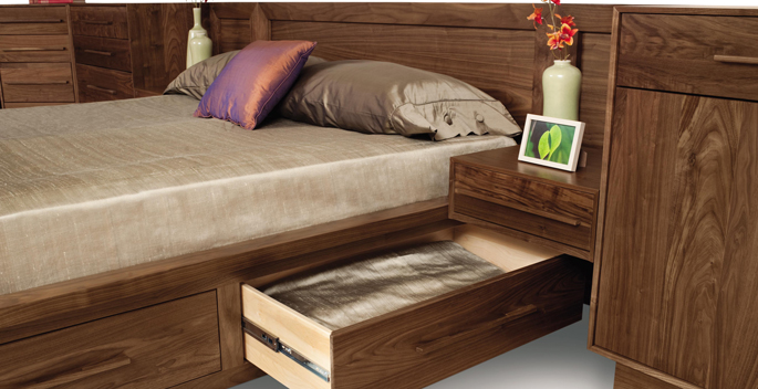 Walnut Bedroom Furniture | Copeland Moduluxe Collection