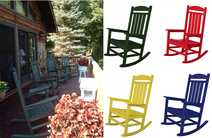 Outdoor Rocking Chairs | Polywood | Recycled Plastic | USA Made