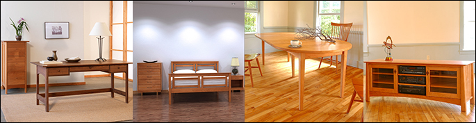Wood Furniture | Top Style Trends | American Made in Vermont | Cherry, Maple, Walnut, Oak