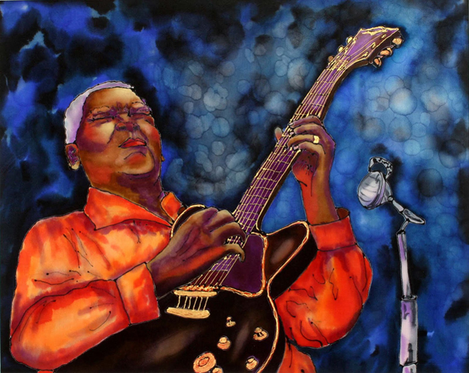 Who is this legendary jazz and blues guitarist?  BB King?  Buddy Guy?  Robert Johnson?