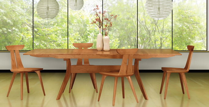 Copeland Audrey Modern Dining Set | Real Solid Cherry Wood | American Made