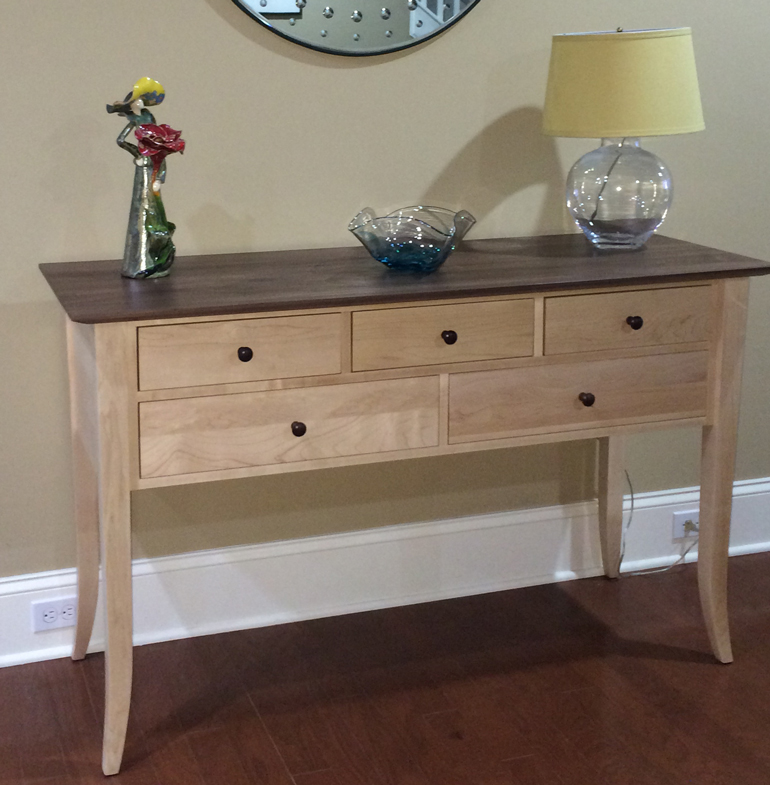Maple Furniture with Walnut Wood Accents