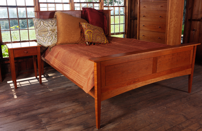 Shaker Beds | Handmade in Vermont | Solid Cherry Wood | High Quality