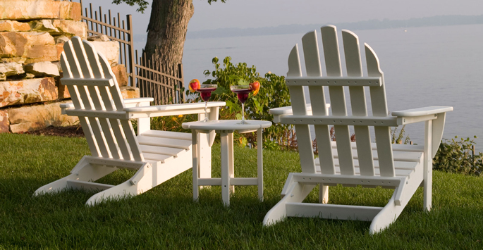 Polywood All Weather Adirondack Chairs | Recycled Plastic Milk Jugs