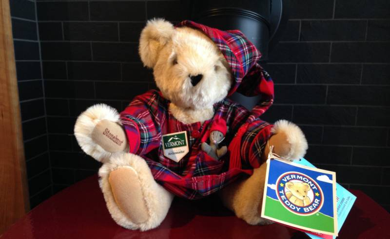 Vermont Teddy Bears are handmade in VT and can be customized with your name or initials
