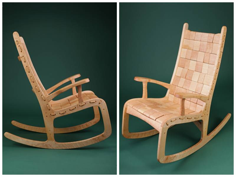 Attirant Sink Into A Quilted Rocking Chair Vermont Woods Studios