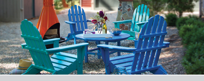 All Weather Adirondack Chairs by Polywood