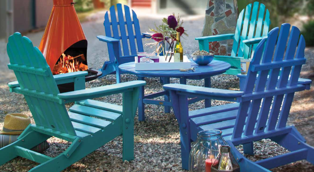 Colorful Blue Adirondack Chairs | Recycled Plastic Polywood