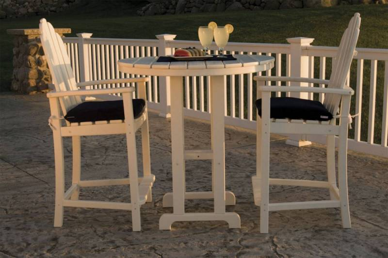 Faux Wood Adirondack Bar Set