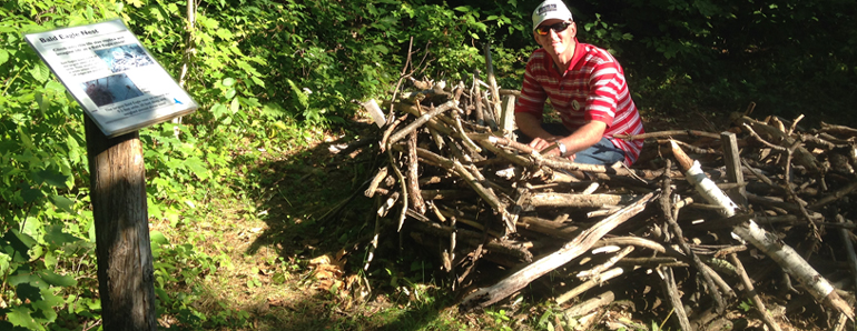 Vermont Institute of Natural Science VINS. Helping nature stay in balance. How big is an eagle's nest?