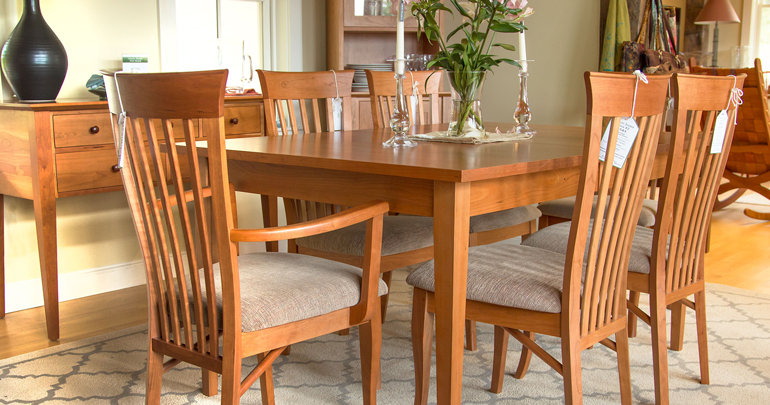 Hardwood Dining Table And Chairs | Cherry