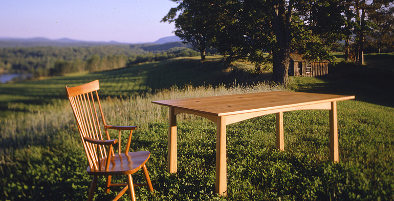 Sustainable, Vermont made furniture as an alternative to illegal imports