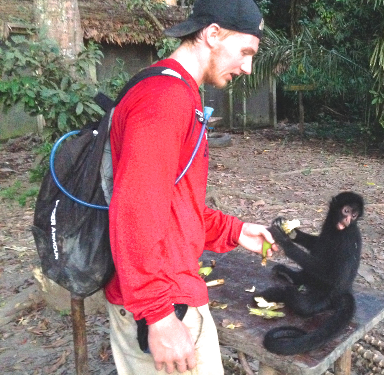 Spider Monkey with Riley | Volunteering at Serere | Conservation through Ecotourism