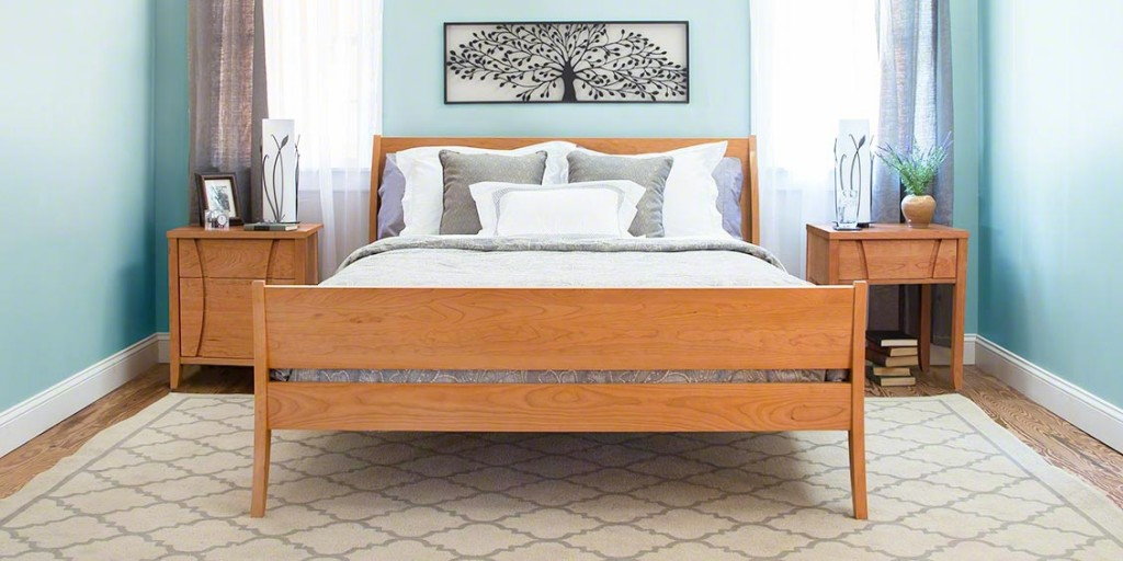 The Holland Sleigh Bed is handmade in Vermont