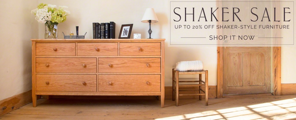 Shaker Furniture on Sale at Vermont Woods Studios