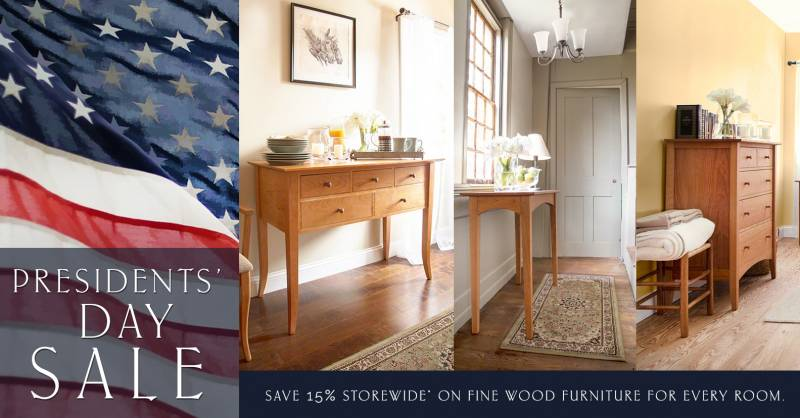presidents' day furniture sale