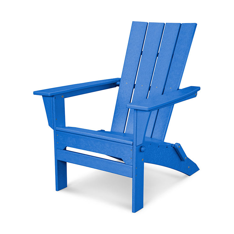 POLYWOOD Quattro Folding Adirondack Chair in Pacific Blue