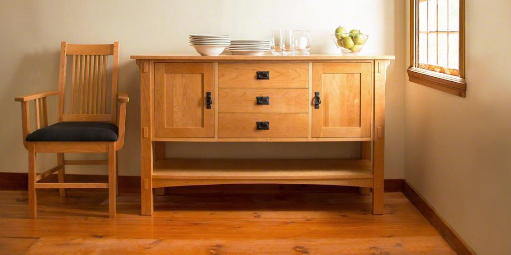 Solid Wood Sideboard Buffet By Lyndon Furniture