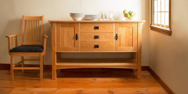 Solid Wood Sideboard-Buffet by Lyndon Furniture
