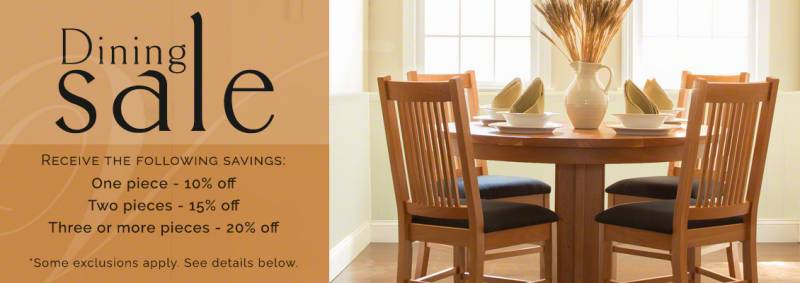 fall dining furniture sale
