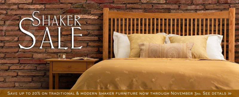 fall shaker furniture sale