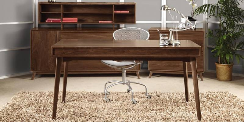 For The Lover Of Modern Mid Century Furniture, The Copeland Catalina Walnut  Desk And Matching Living Room Furniture Take You Back To When Home Offices  Were ...