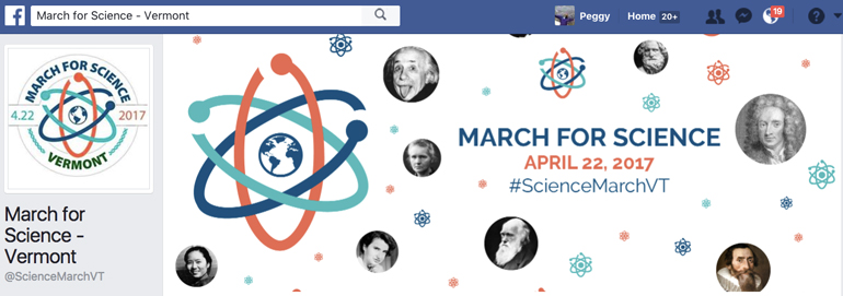 March for Science, Vermont 2017