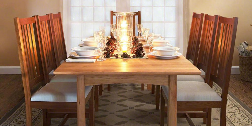 Woodland Dining Table and Grand Mission Dining Chairs