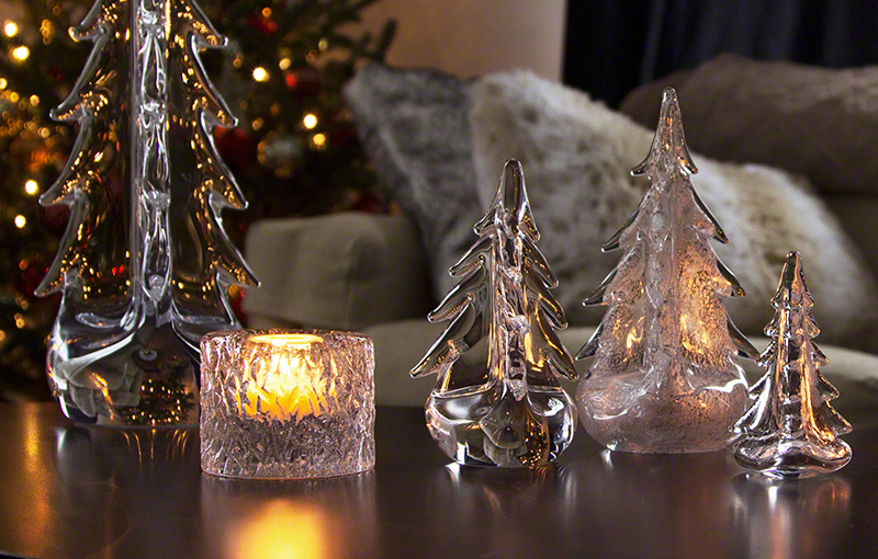 Meet Vermont Evergreens by Simon Pearce | Glass Trees from Vermont ...