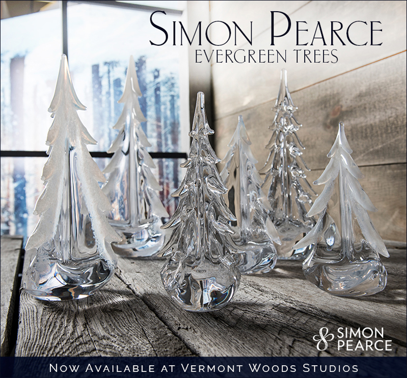 Vermont Evergreens by Simon Pearce | Glass Trees at Vermont Woods Studios