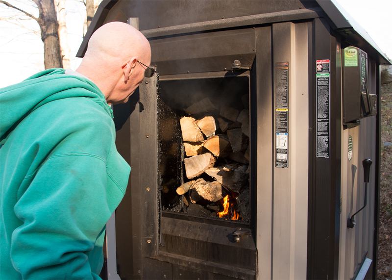 Heating Stonehurst with an outdoor wood boiler