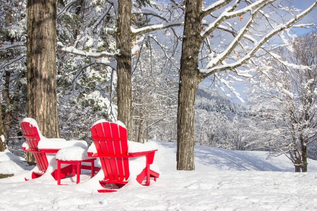 Polywood Adirondack Chairs   All Weather Furniture   Vermont in Winter