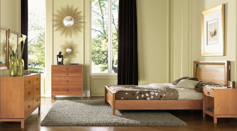 Copeland's Mansfield bedroom set in natural cherry wood.